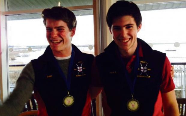 RIVER ROW SUCCESS: Winning crew . . . Penarth Rowing Club's Jack Davies and Gabriel Ackerman stormed to victory in Sunday's Head of the River race in Cardiff.