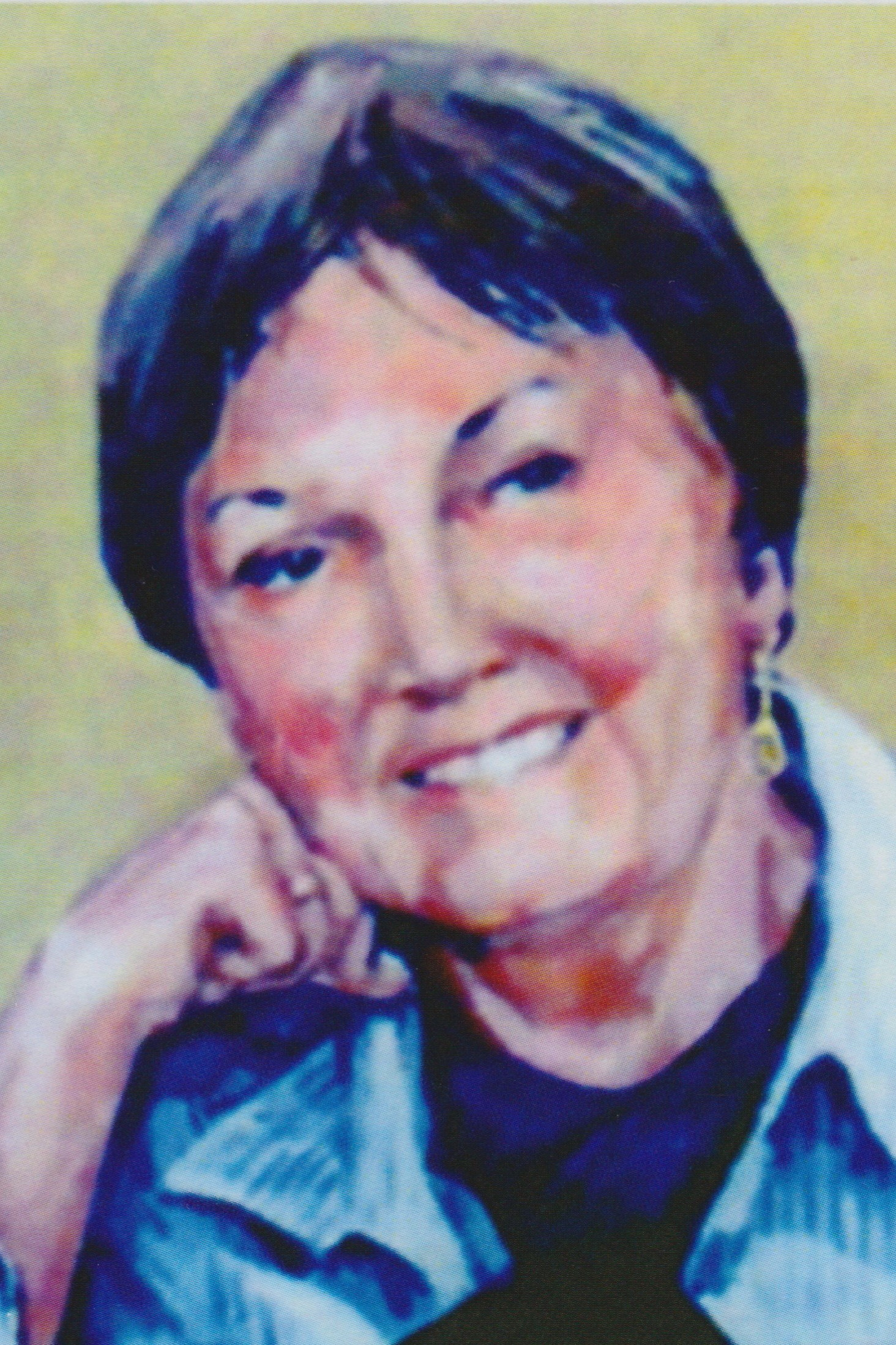 TRIBUTE: A portrait of Glenda Vibert painted by her husband David Vibert