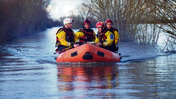 FLOOD: RNLI volunteers in Somerset