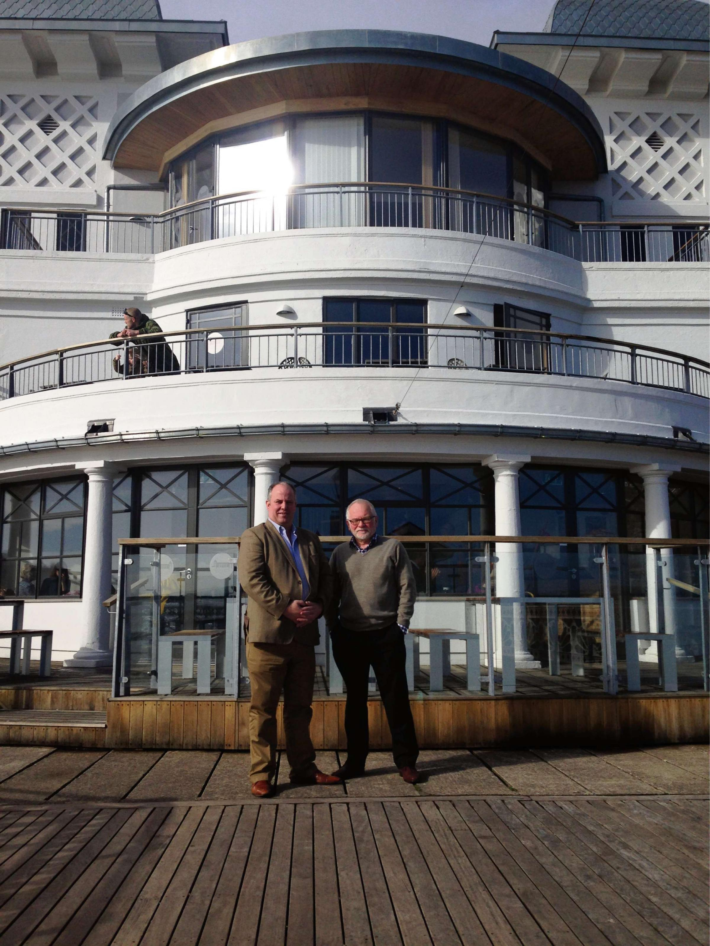 PARKING: South Wales Central AM Andrew RT Davies with director of Penarth Pier Pavilion Dr David Trotman