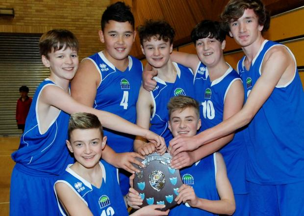 Penarth Times: TOURNAMENT TRIUMPH: Ysgol Bro Morgannwg (Barry) - winners of the boys' competition at the annual 5x60 schools' basketball tournament.