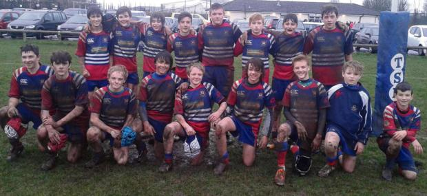 Penarth Times: GOOD IN THE MUD: Penarth Rugby Club U14s got back to winning ways in muddy conditions against Bryncethin.