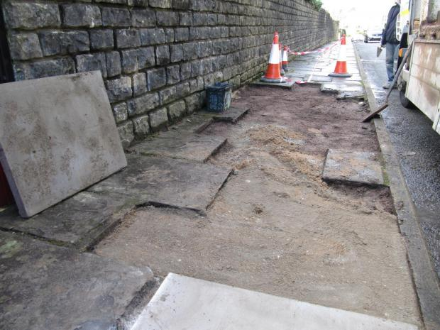 THEFT: The pennant paving slabs were taken on Wednesday evening, February 26 (4346649)