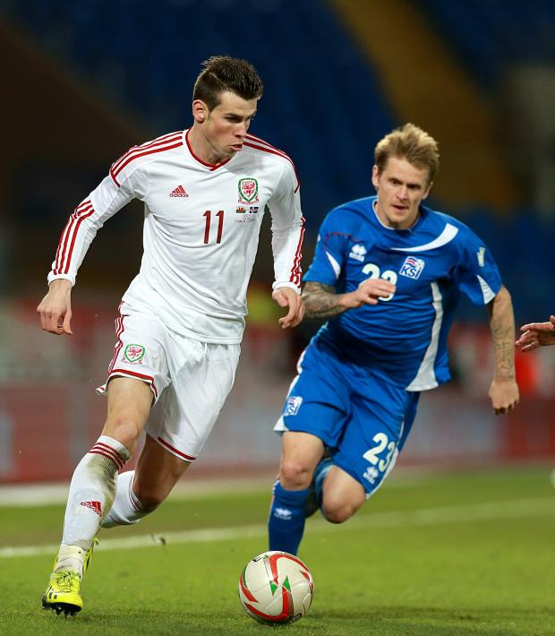 Penarth Times: STAR MAN: Gareth Bale in action against Iceland