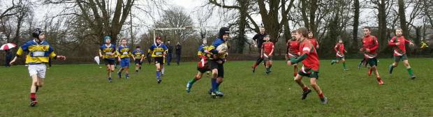 BACK IN ACTION: After a seriously disrupted schedule due to the poor weather, Old Penarthians Rugby Club U10s put in a strong showing in two back to back fixtures at the end of February.