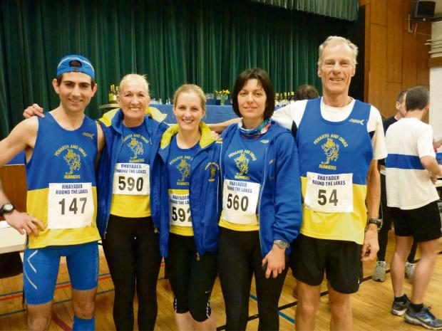 TEAM EFFORT: (from left) Richard Jackson-Hookins, Yvonne Williams, Lindsey Hunt, Helen Griffiths and Malcolm Bradley before the race
