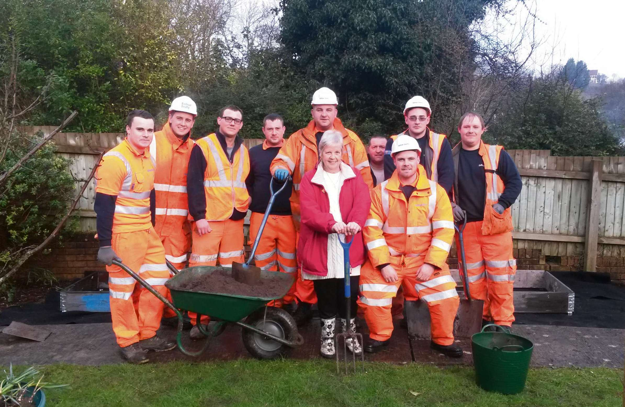 Gwyn James Court garden gets redeveloped thanks to volunteers