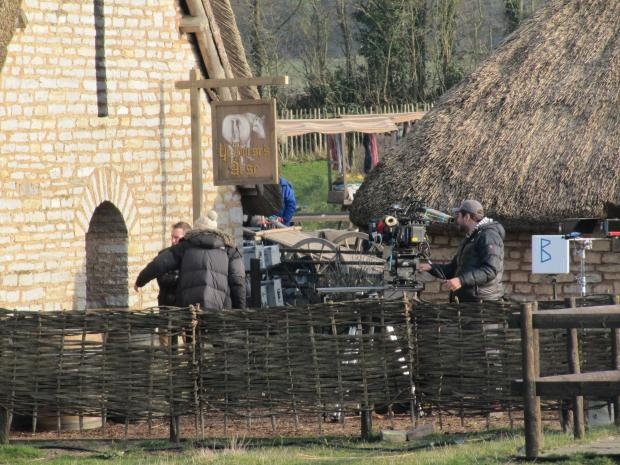 Penarth Times: FILM CREW: Cosmeston Medieval Village has been taken over by film crew this week (4591823)