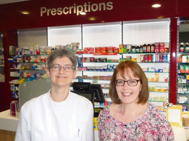 Penarth Times: OSTEOPATH: Louise Cooke (left) and Jane Soltys at Washington Pharmacy
