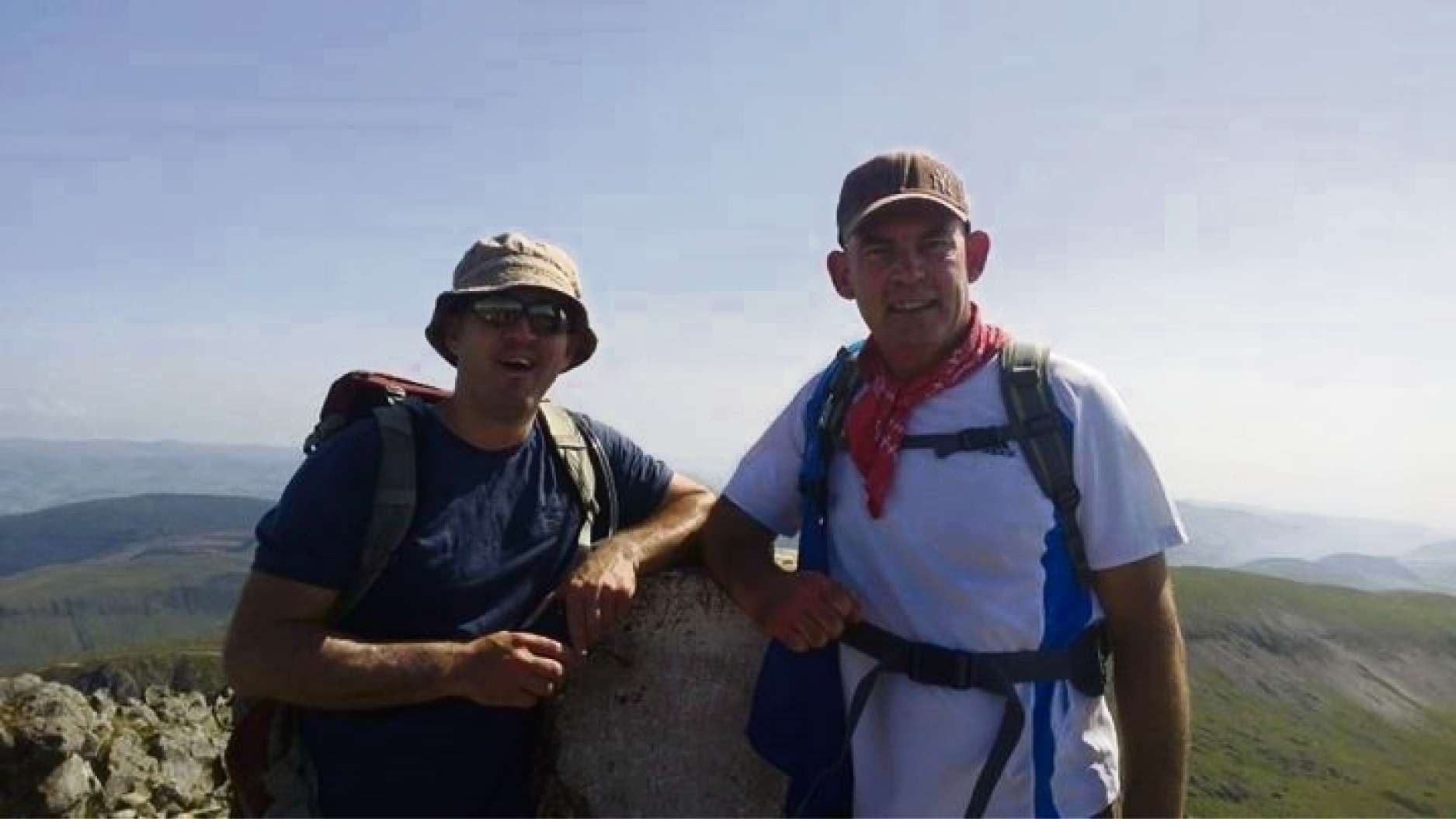 Steve and Paul from Steps Training at the top of Cadair Idris