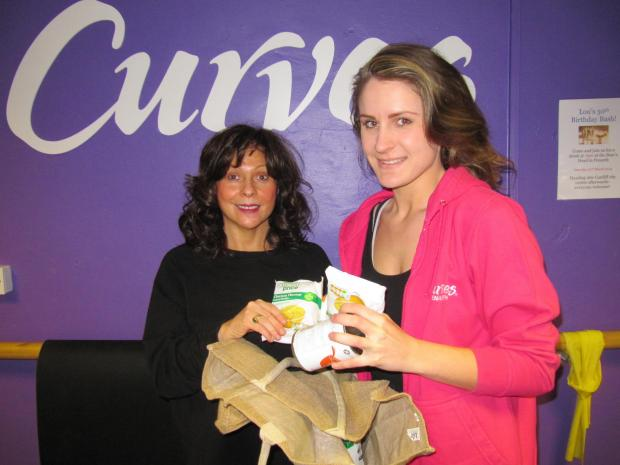 CURVES: Owner Delyth Williams (left) with Stephanie Reeley at Curves in Penarth (4683442)