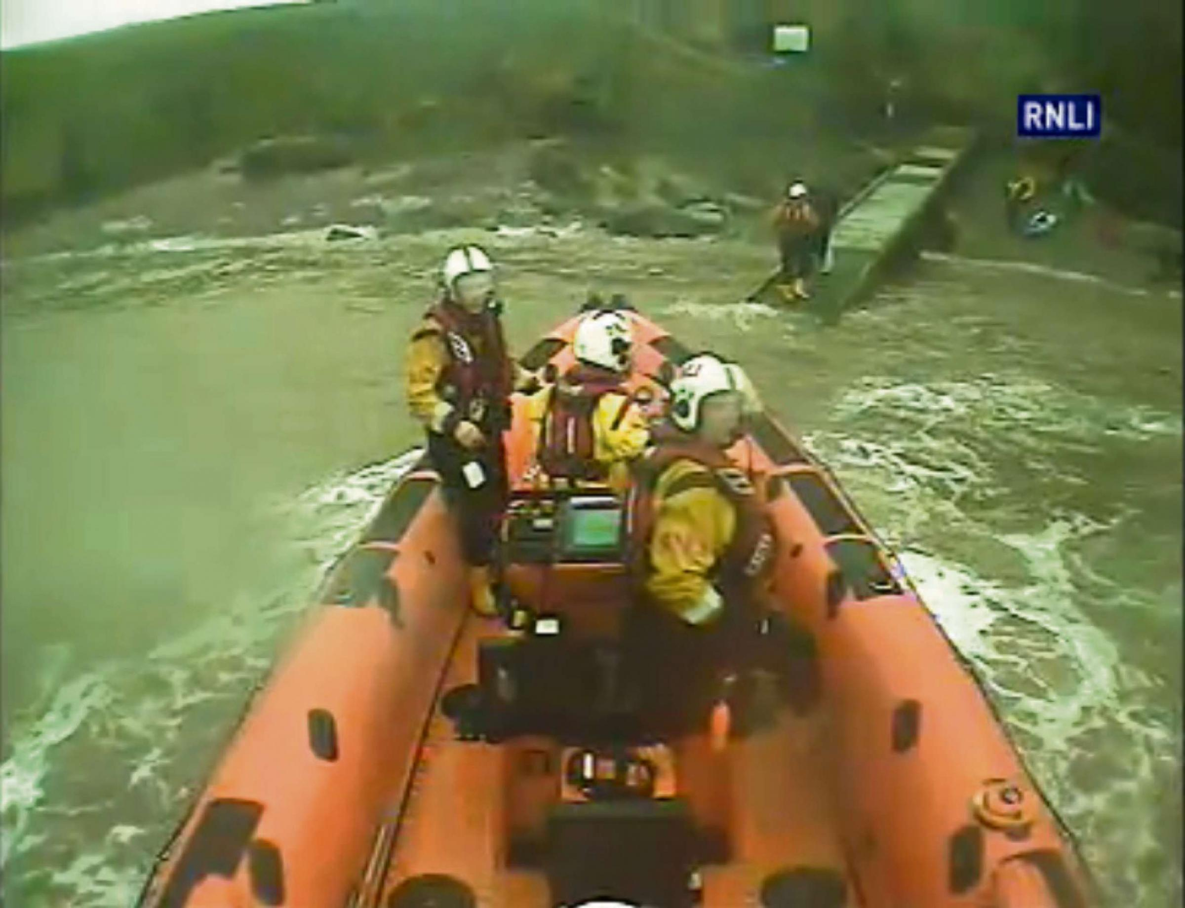 RESCUE: Penarth RNLI crew rescued three kayakers from Flat Holm Island (Pic: RNLI)