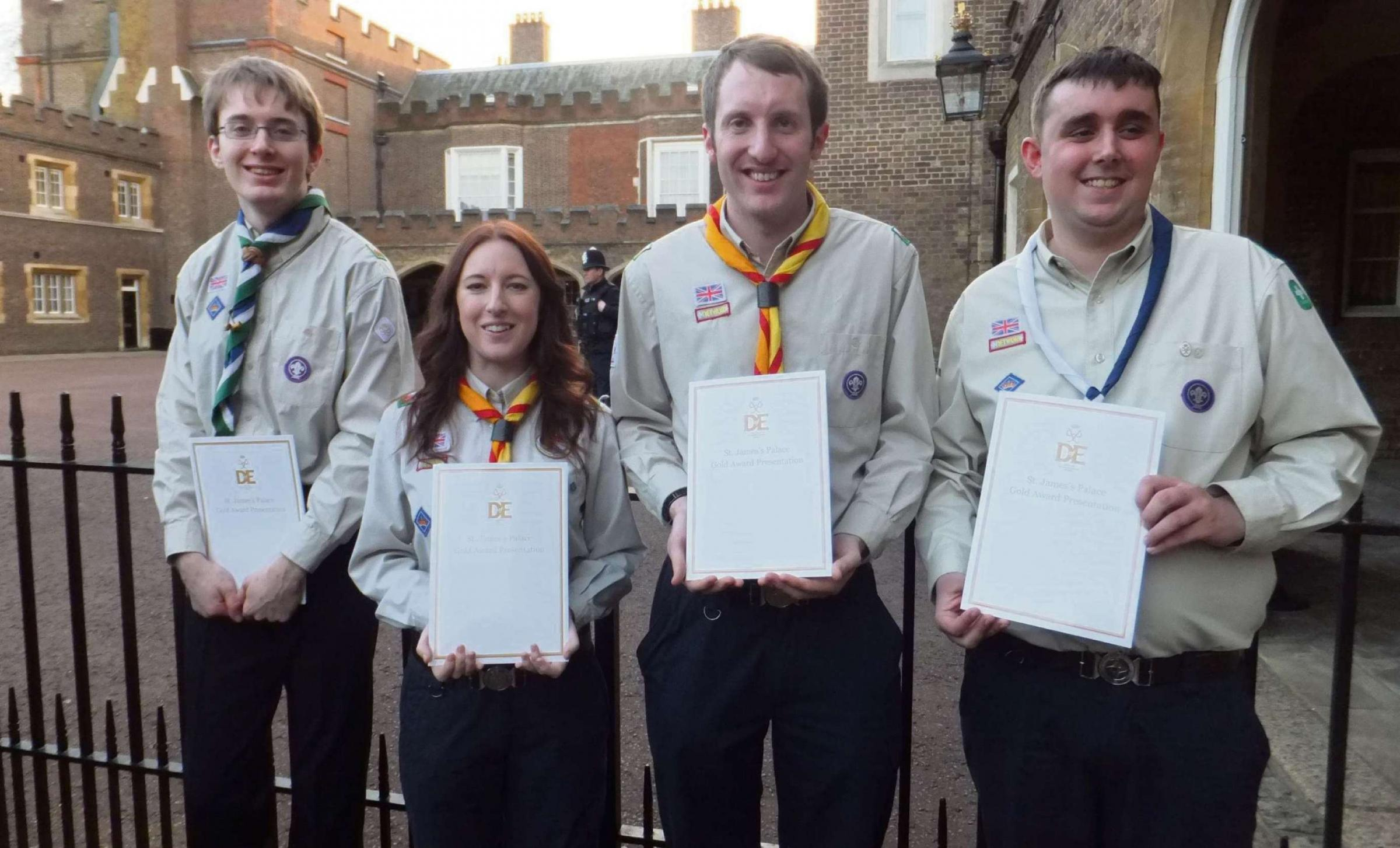 WELL DONE: Megan, Matt, Darryl and Sam with their certificates. (4509219)