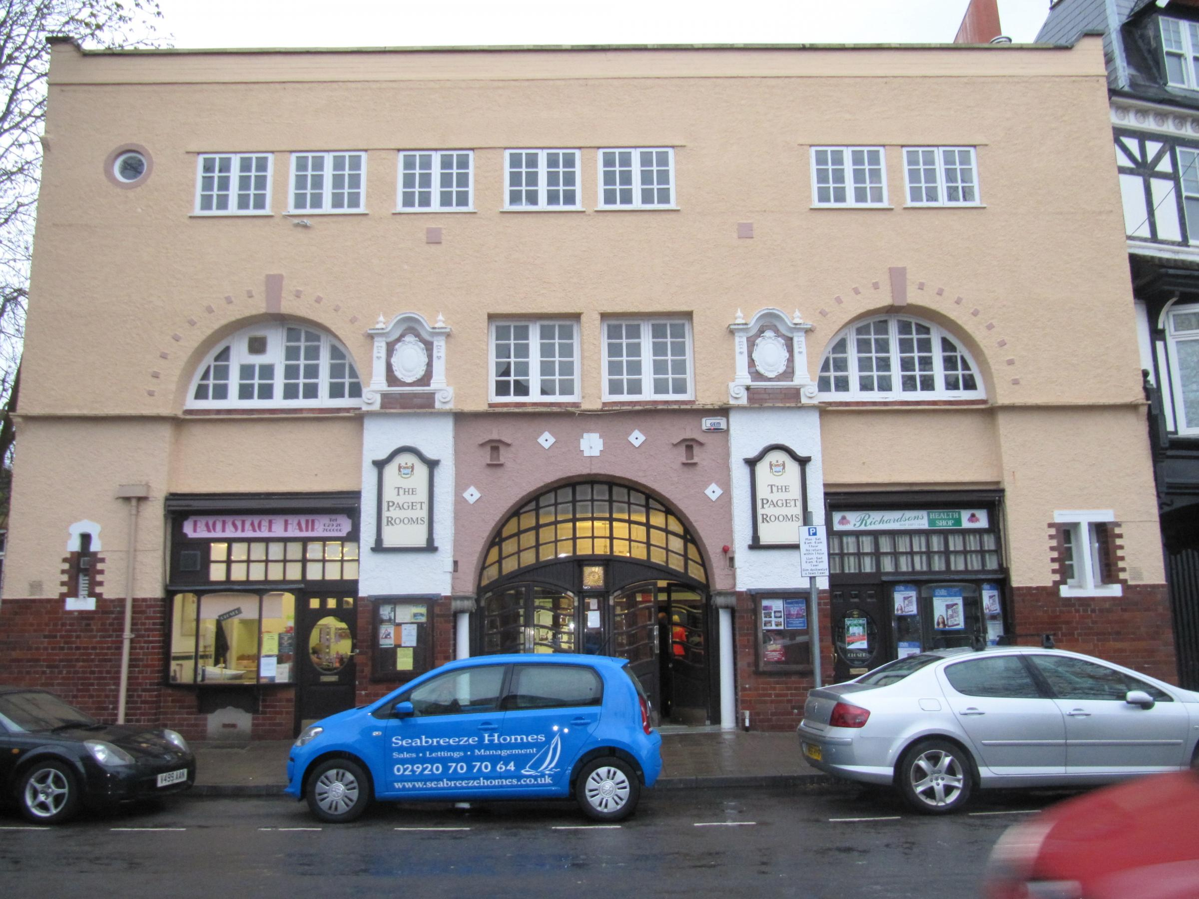 "PAGET ROOMS: Penarth Town Council is set to use ""blue sky thinking"" in a bid to increase use of the Paget Rooms (4927962)"