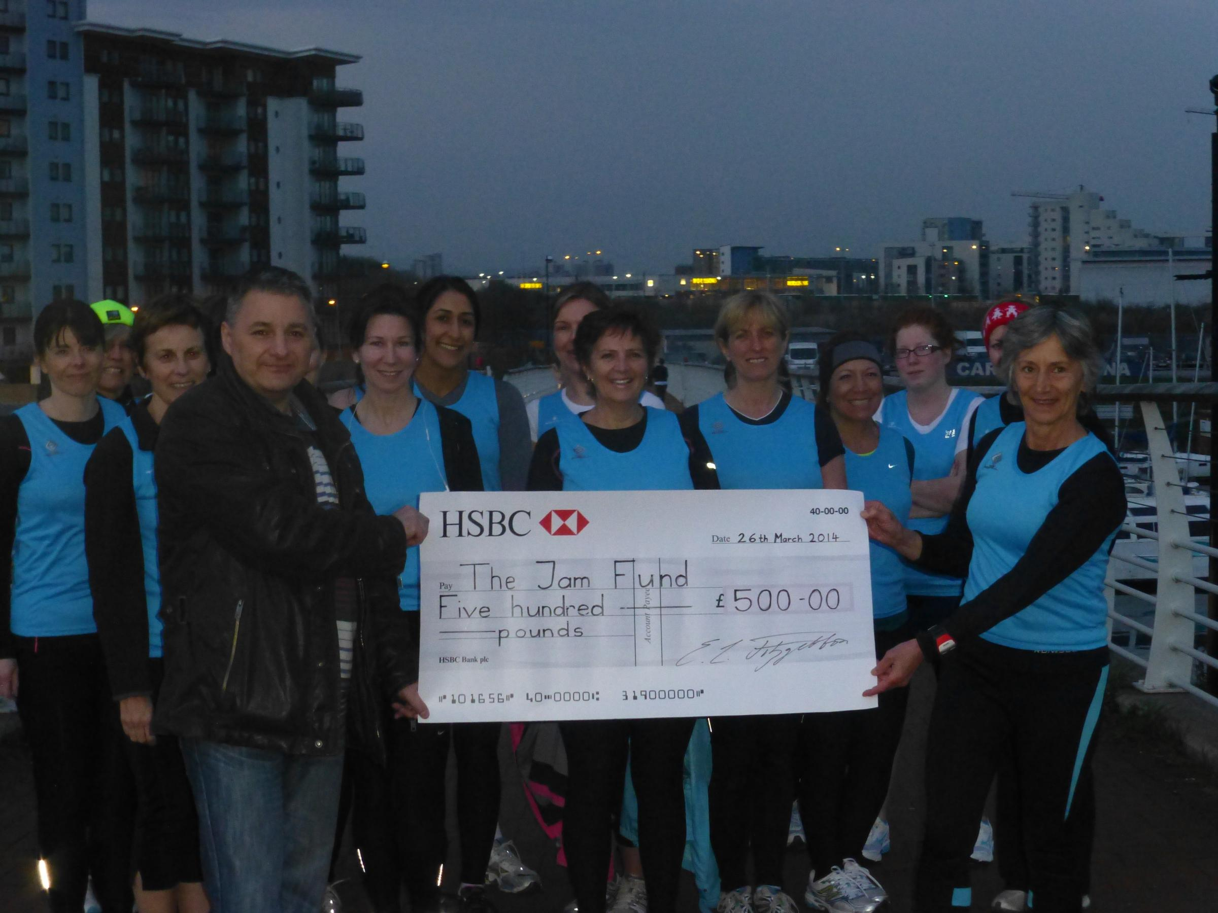 DONATION: Women Running Penarth chose the JAM Fund as their charity of the year (4940058)