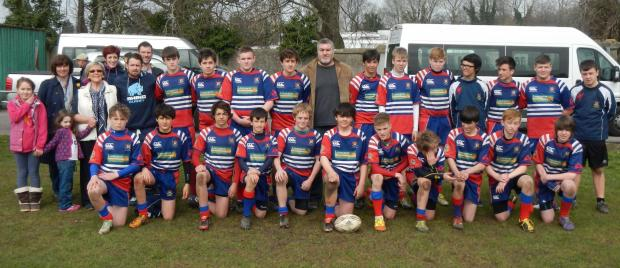 BUSY SUNDAY: On a busy Sunday, which included a coaching session with rugby legend Shane Williams, Penarth Rugby Club U14s  welcomed touring team Old Salesians from Surrey to the Athletic Field.
