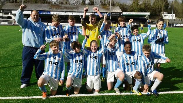 INTER-LEAGUE TROPHY: Cogan Coronation Football Club U13s lifted their first trophy of the season when, representing the Vale League, they beat counterparts from Merthyr in an inter-league clash.
