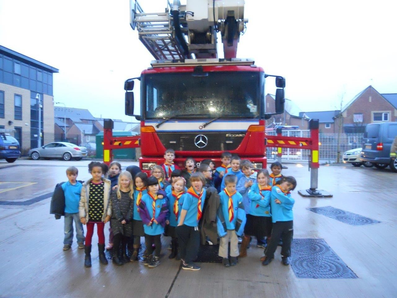 TOUR: Members of 1st Penarth Beaver Scouts Colony at the central fire station in Cardiff