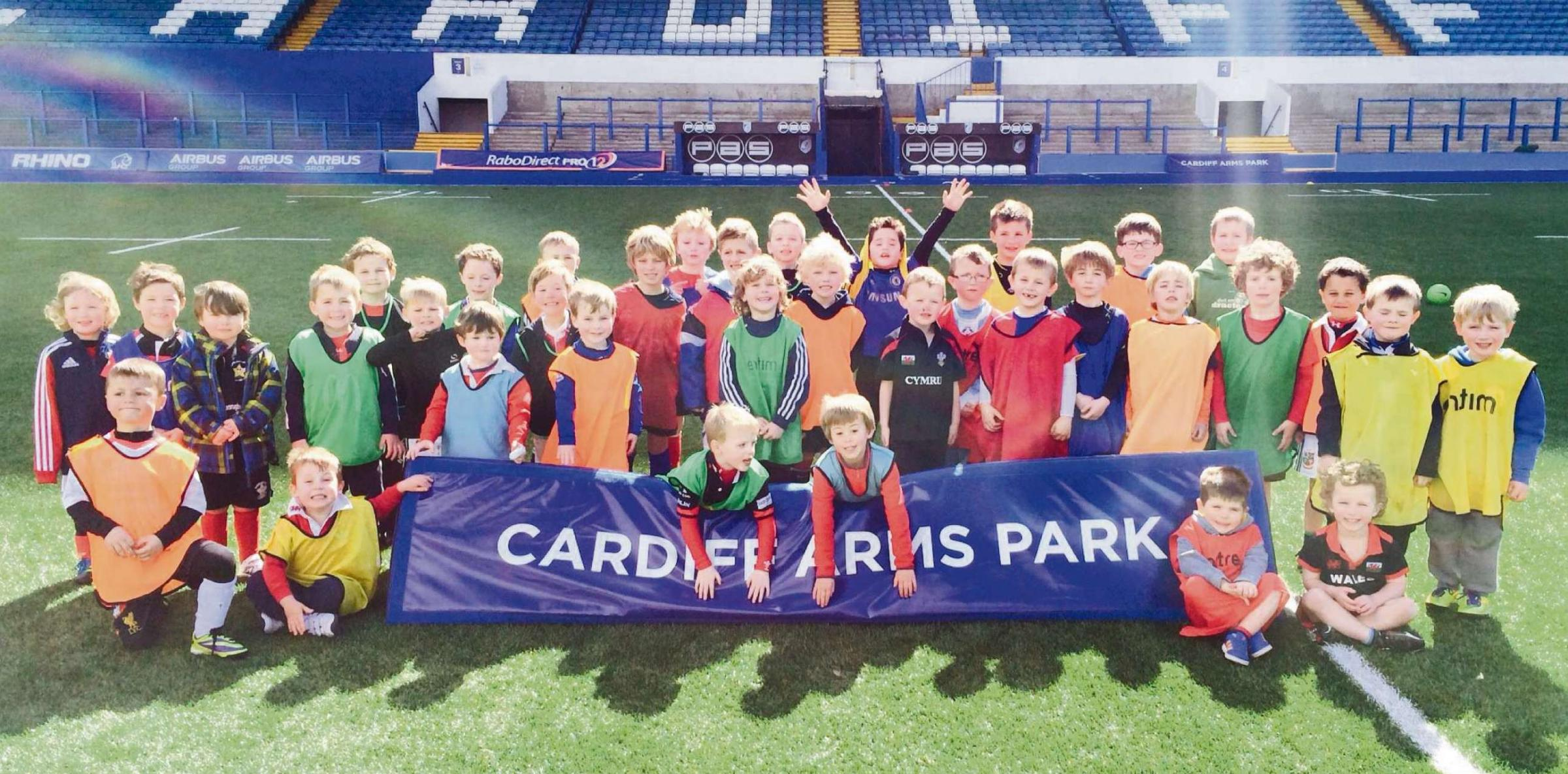 SPORTS DAY: A number of children from the Vale of Glamorgan took part in a unique sporting opportunity at Cardiff Arms Park when they were coached in rugby and football skills.