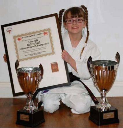 "TRUE CHAMPION: At just 10 years of age, Vale Karate's Chiara Baker, of Penarth, has been crowned a ""Champion of Champions"" in the Welsh Karate League."