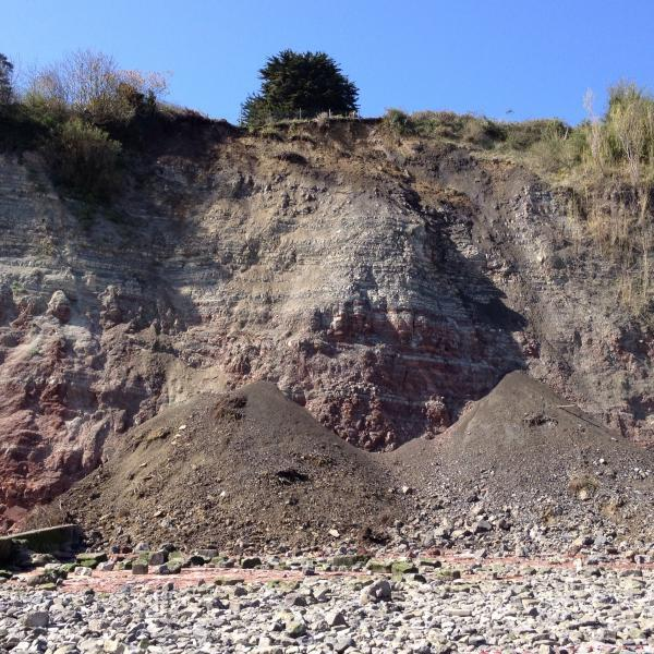 Penarth Times: LANDSLIDE: The 150 tonne cliff landslide on Penarth beach