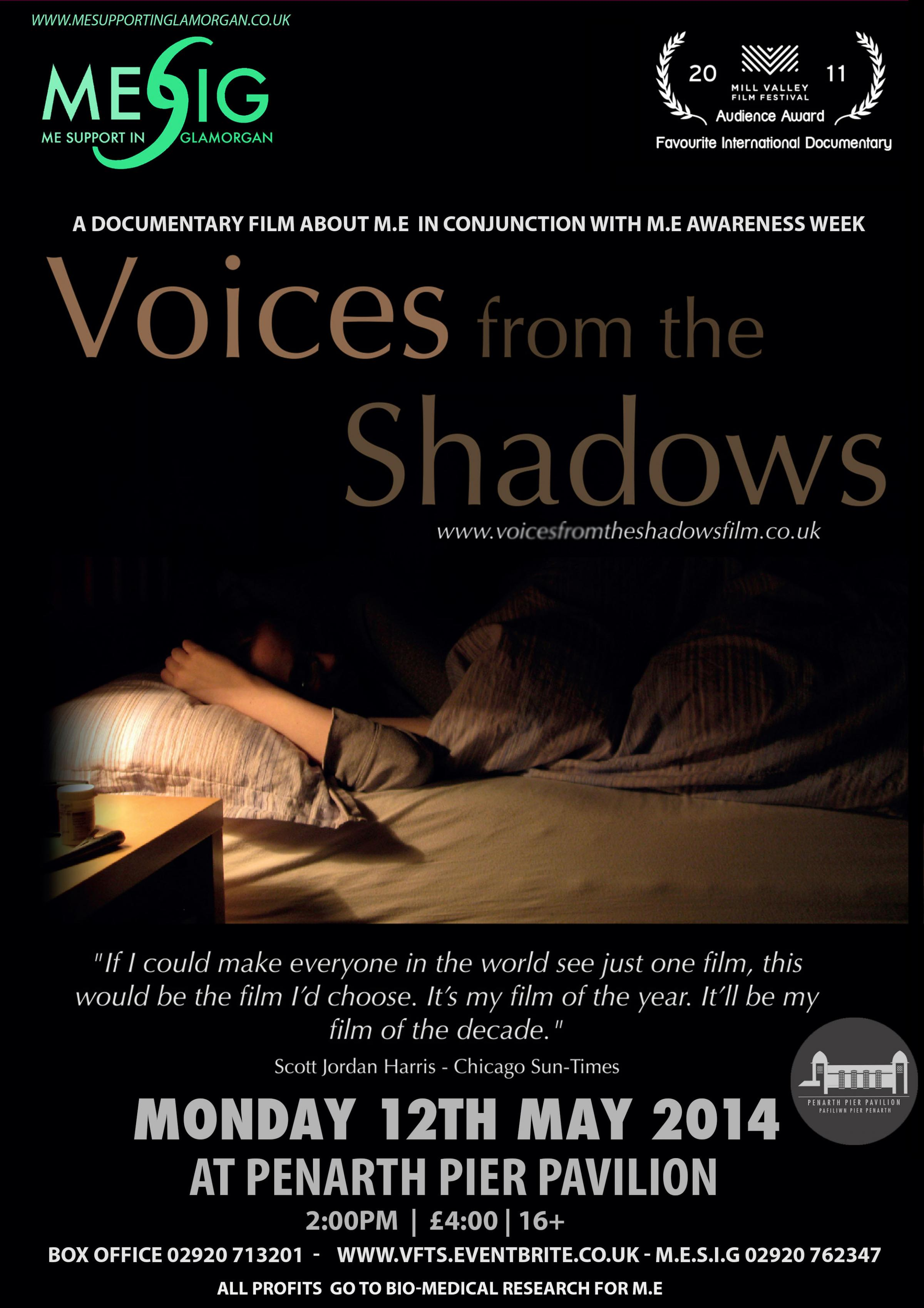 CINEMA: The award winning documentary film 'Voices of the Shadows' will be shown at Penarth Pier Pavilion cinema