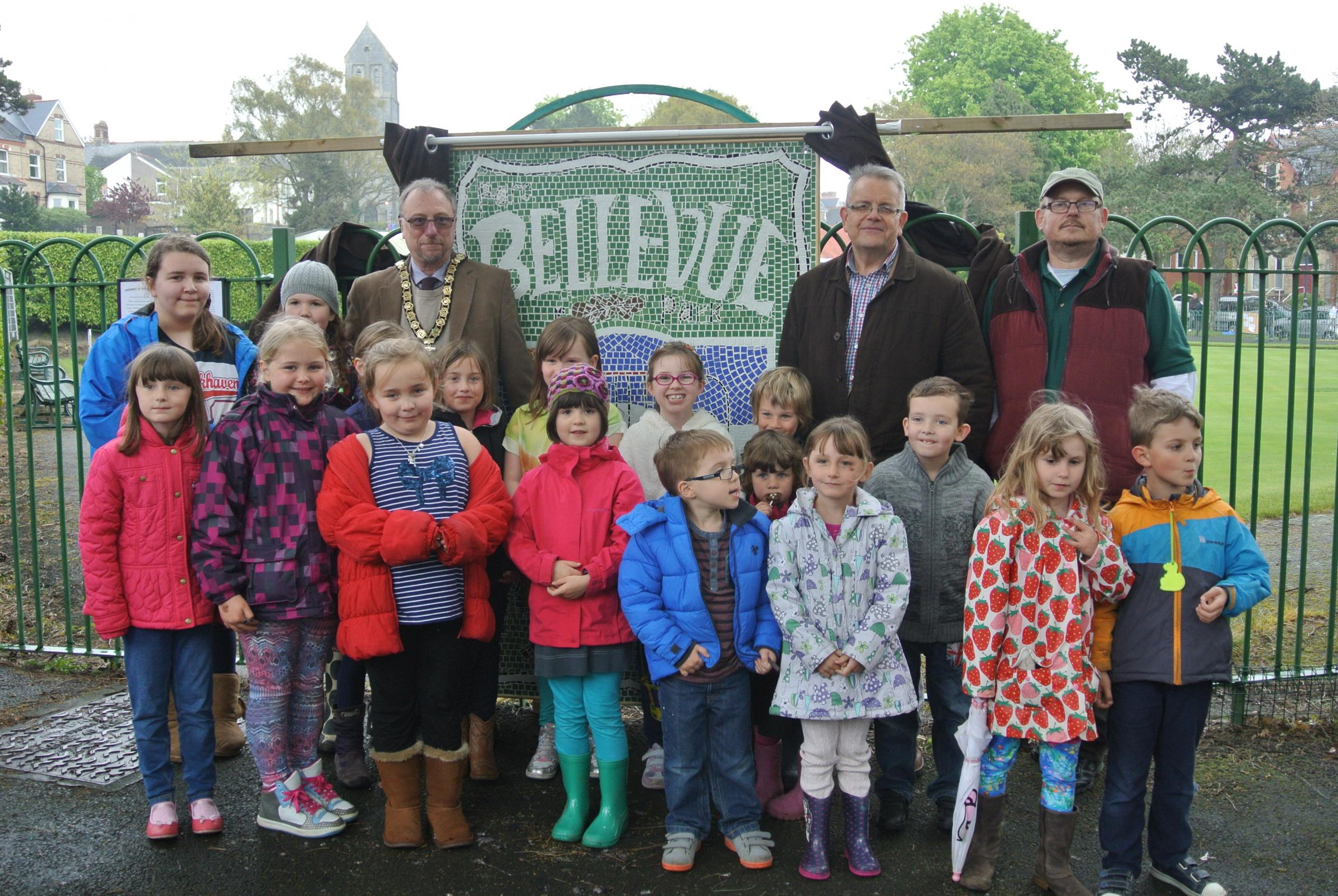 Belle Vue Park centenary mosaic unveiled at Easter Festival
