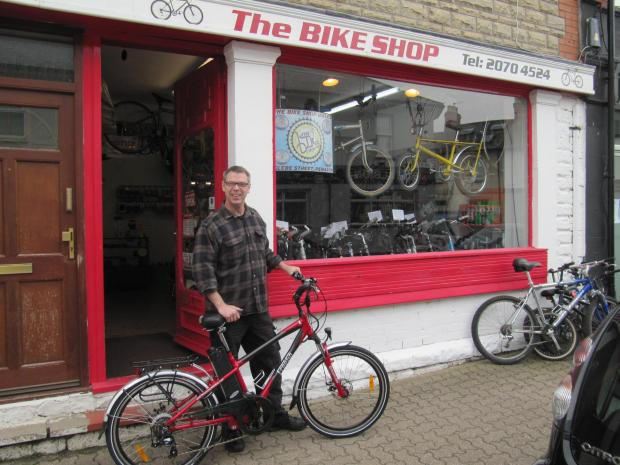 Penarth Times: BIKE SHOP: Karey Sharp has teamed up with local police to tackle bike theft (5674178)