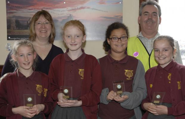 RUNNERS UP: Victoria Primary School met St Brides in the final of the Road Safety Quiz