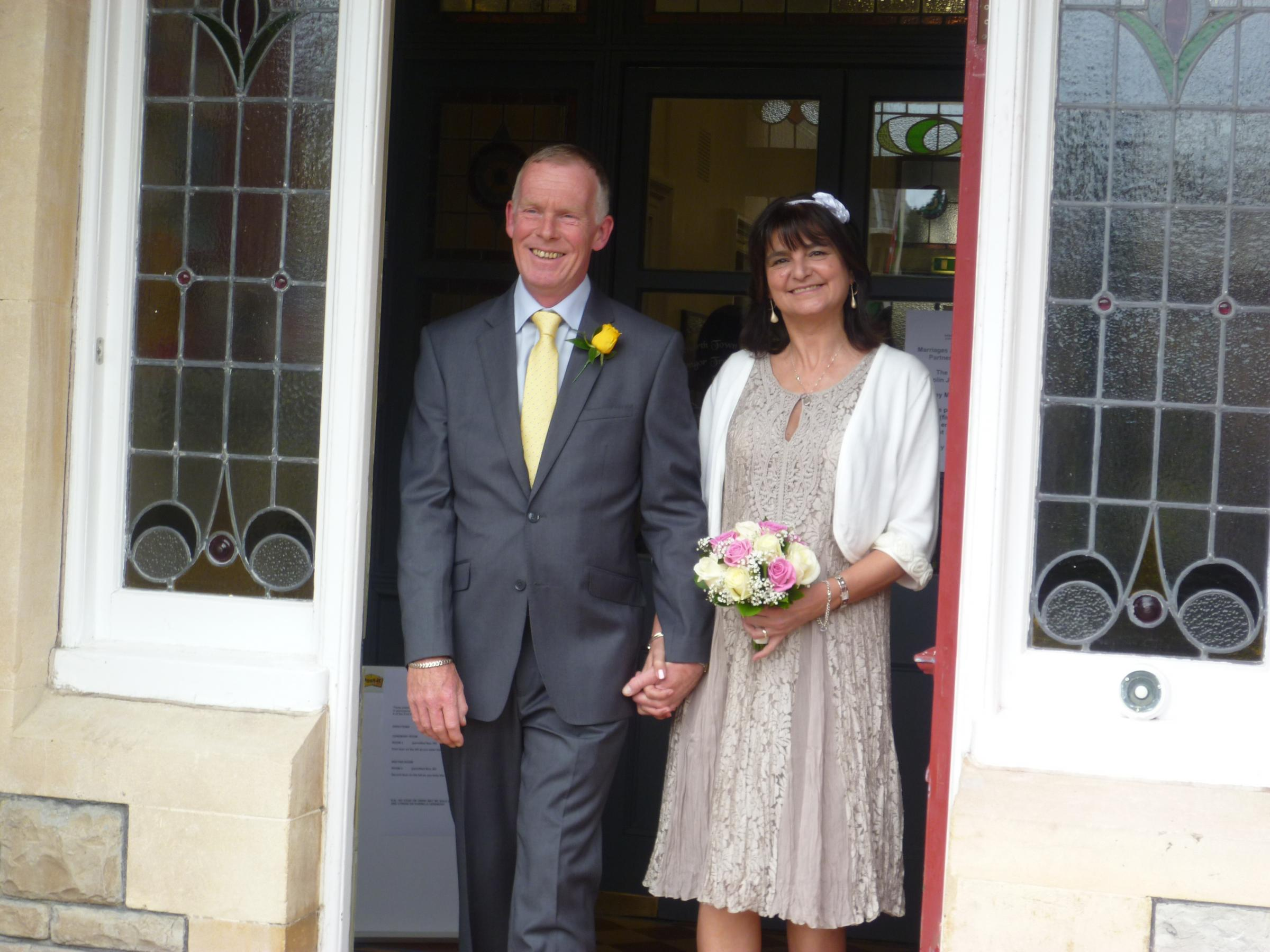 WEDDING BELLS: Colin Campbell and Hayley Sagastume got married at West House on Friday, April 25