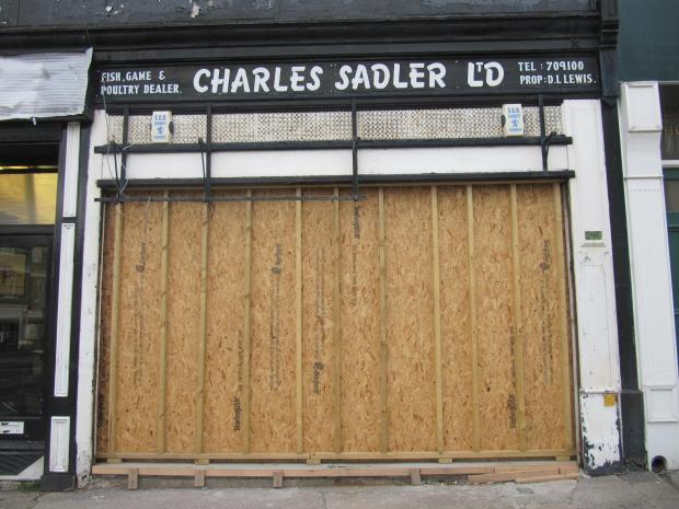 FUTURE BISTRO? Charles Sadler, the fish, game and poultry shop at Station Approach, closed in October last year