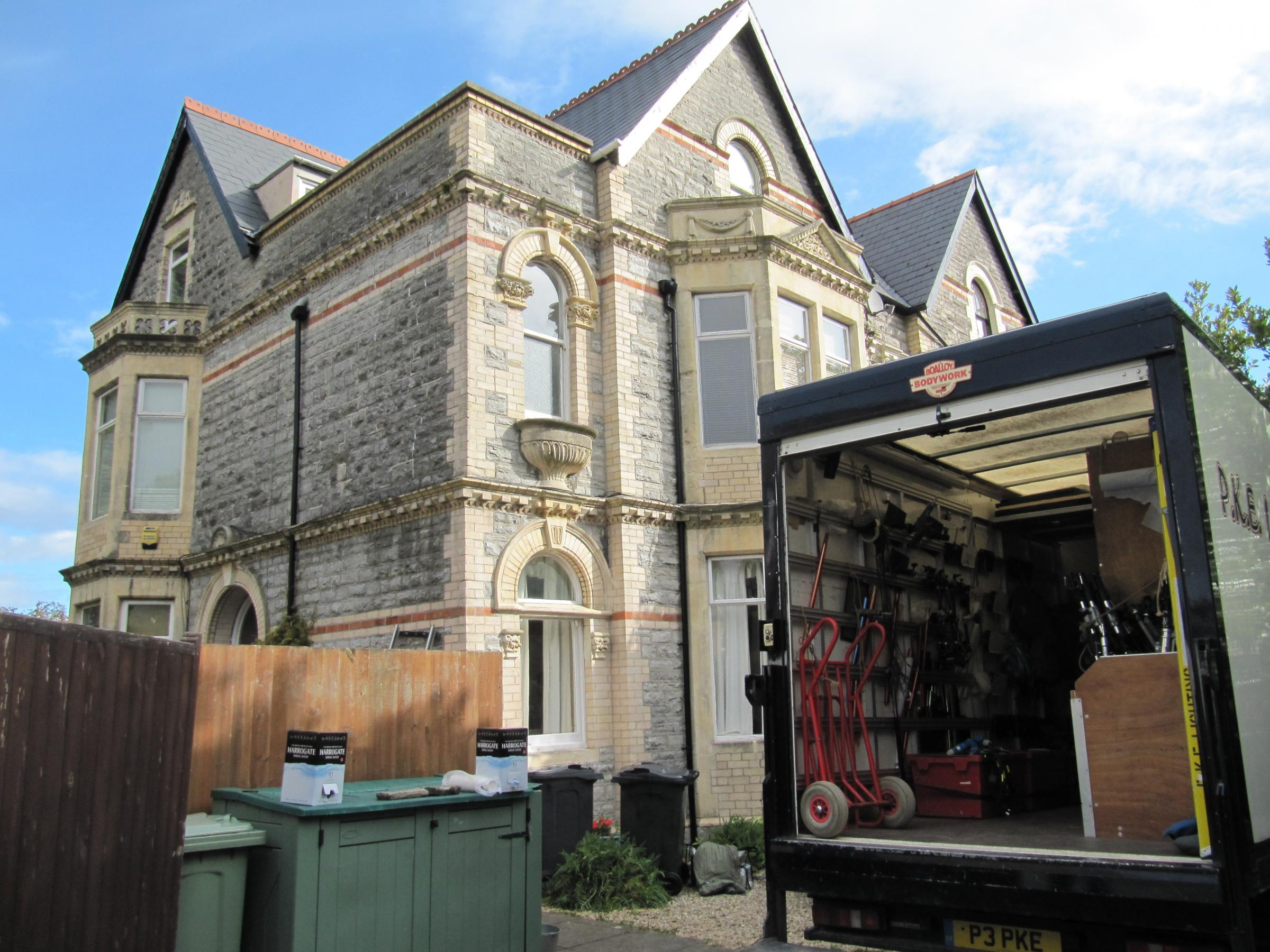 Casualty film crews move into Penarth house