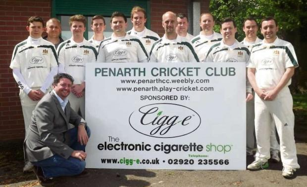 CLUB SPONSORS: The Penarth Cricket Club is grateful for the continued support of their sponsors - Cigg-e, The Jaflon Restaurant and J W Bassett public houses.