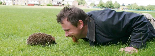 PRICKLY: Hugh Warwick has a passion for hedgehogs