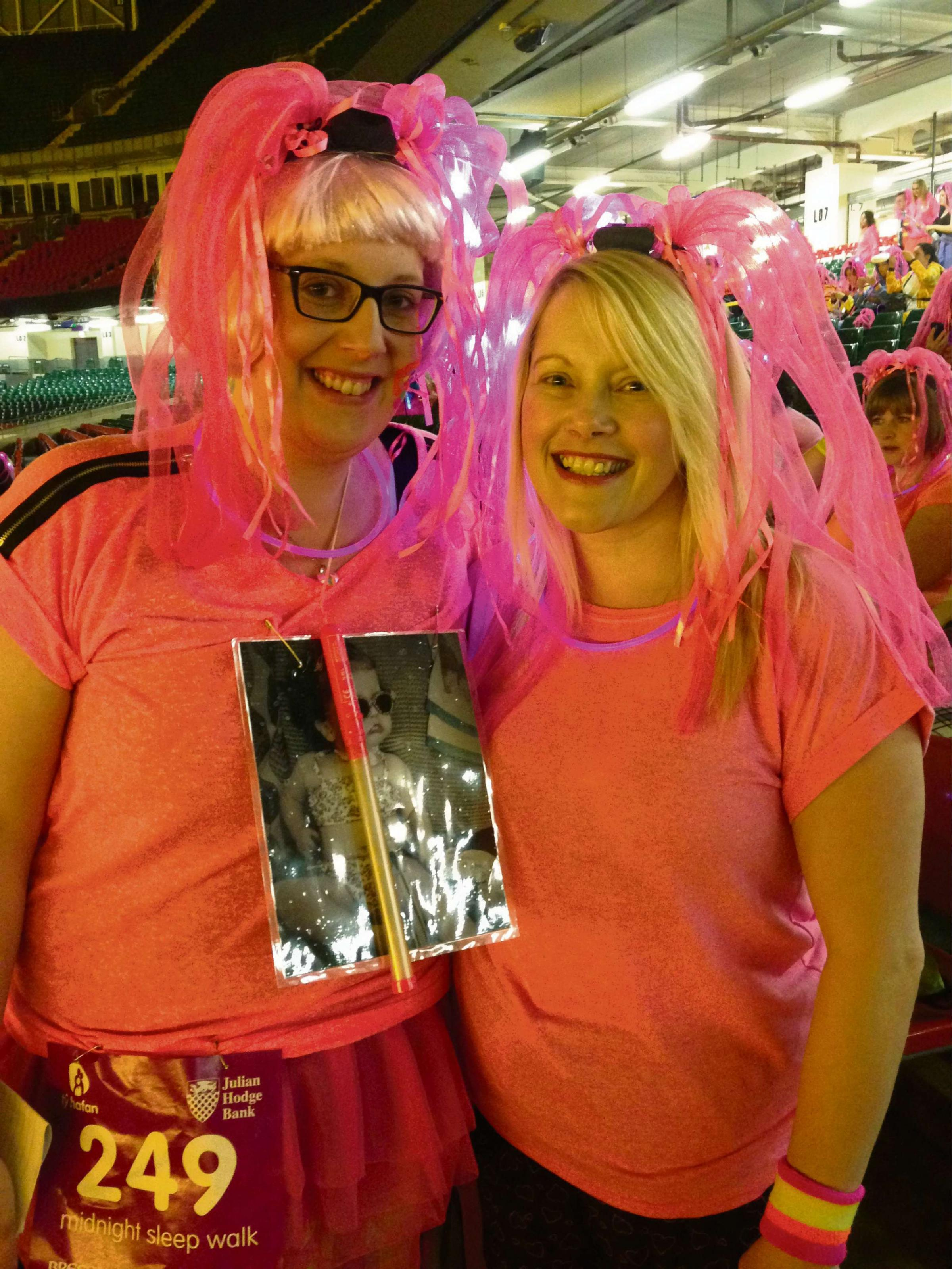 Walkers light up the night for Ty Hafan
