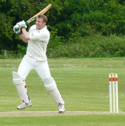 LATE RUNS: Dinas Powys' Will Mardell wags the 2nd XI tail against Croesyceiliog.