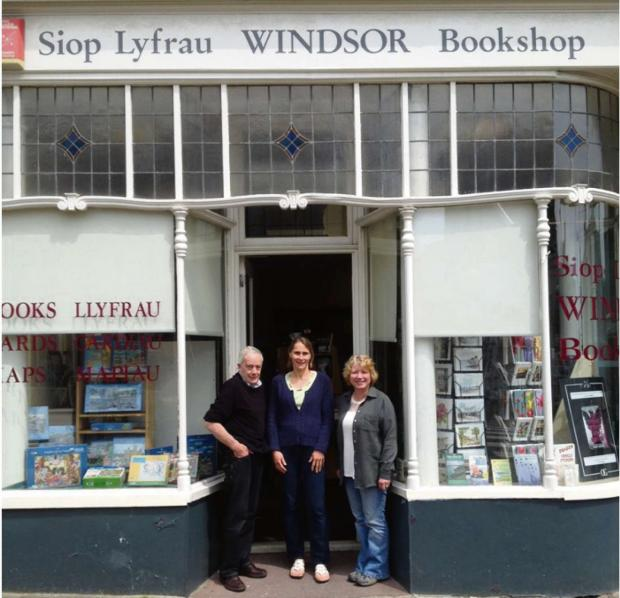 CHANGING HANDS: Tony and Anne Hallett are set to retire from Windsor Bookshop, with Mel Griffin taking over