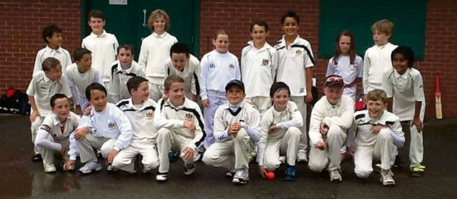 YOUNG STARS: Some of the young cricketers at Penarth Cricket Club whose Monday efforts were washed out by the rain.