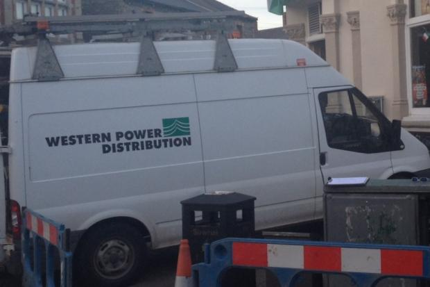 POWER CUT: A Western Power can dealing with a power cut in Penarth town centre in March