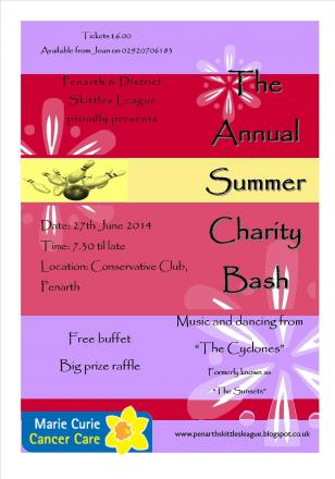 CHARITY NIGHT: The Penarth and District Skittles League hosts an annual summer charity bash at the town's Conservative Club on June 27.