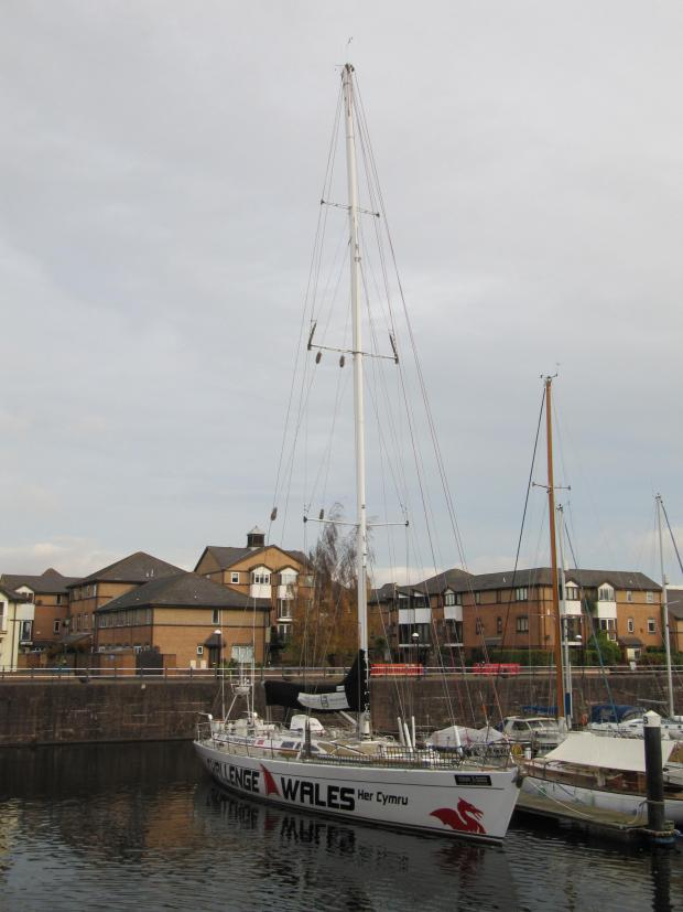 Penarth Times: SAILING CHARITY: The Challenge Wales yacht at Penarth Marina (6724858)