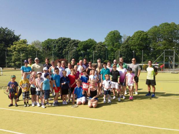 GAME, SET, MATCH: Members of Dinas Powys Lawn Tennis Club during their fundraising open day