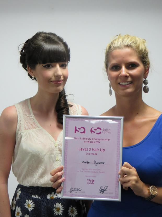 Penarth Times: AWARD: Jennifer Dymmock and Amy Crocket both competed in the ISA Salon Cymru hair competition last month (6720003)