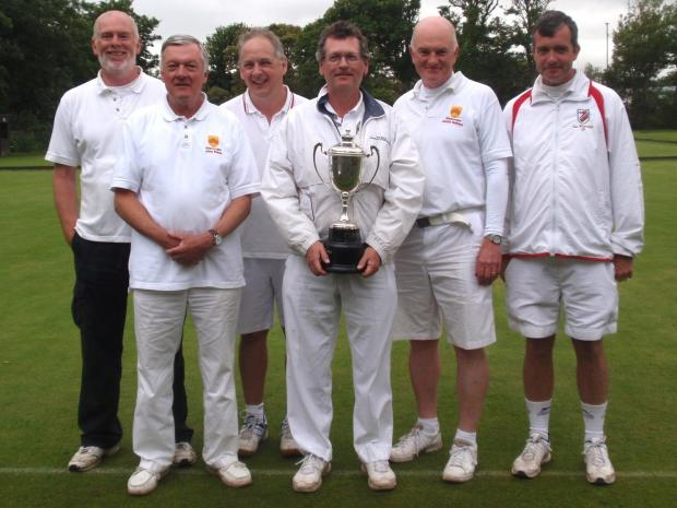 Penarth Times: TROPHY TRIUMPH: Inter-Counties champions . . .The winning Glamorgan croquet team - from left, Gerry McElwain, John Evans, Richard Smith, Chris Williams, David Walters and Ian Burridge.