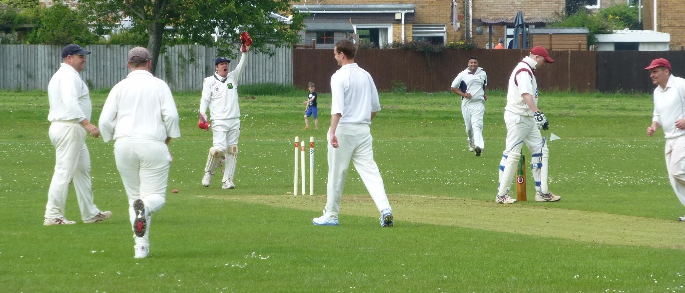 FOUR-WICKET HAUL: Dinas Powys Seconds' Richie Morgan, who produced a great spell of four wickets for five runs, bowls a Tondu batsmen but it was all in vain as his side slipped to a five-wicket defeat.
