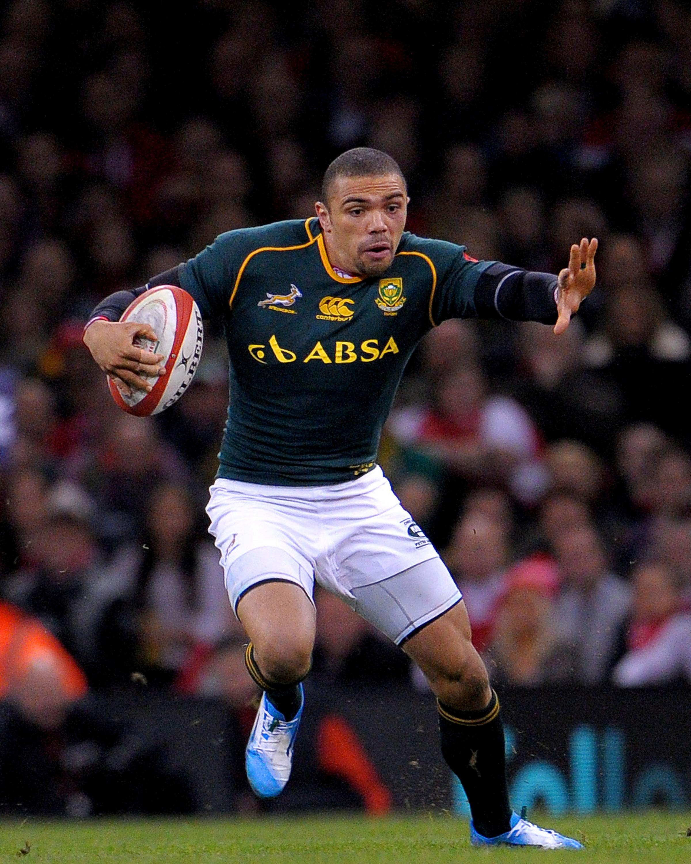 TRY SCORER: Bryan Habana dashed over for the Springboks