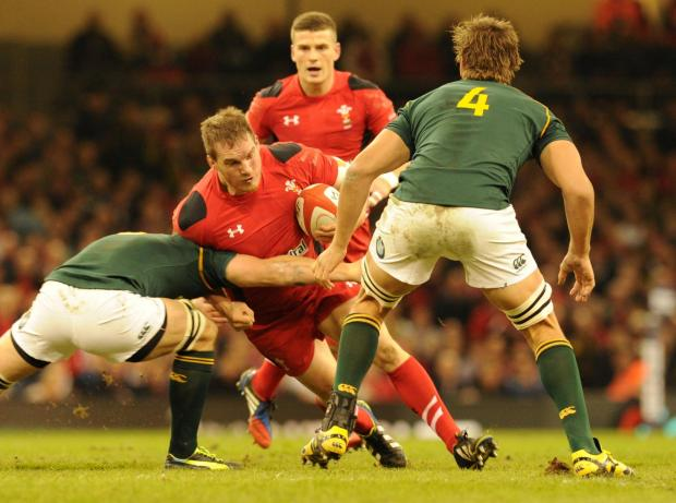 Penarth Times: Gethin Jenkins carries the ball (2397167)