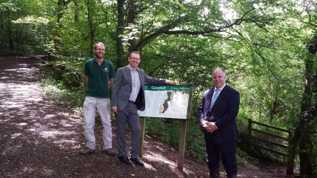 WOODS: John Mitchell from the Woodland Trust, Andrew RT Davies AM and Russell George AM launched the consultation in Michaelston-le-pit