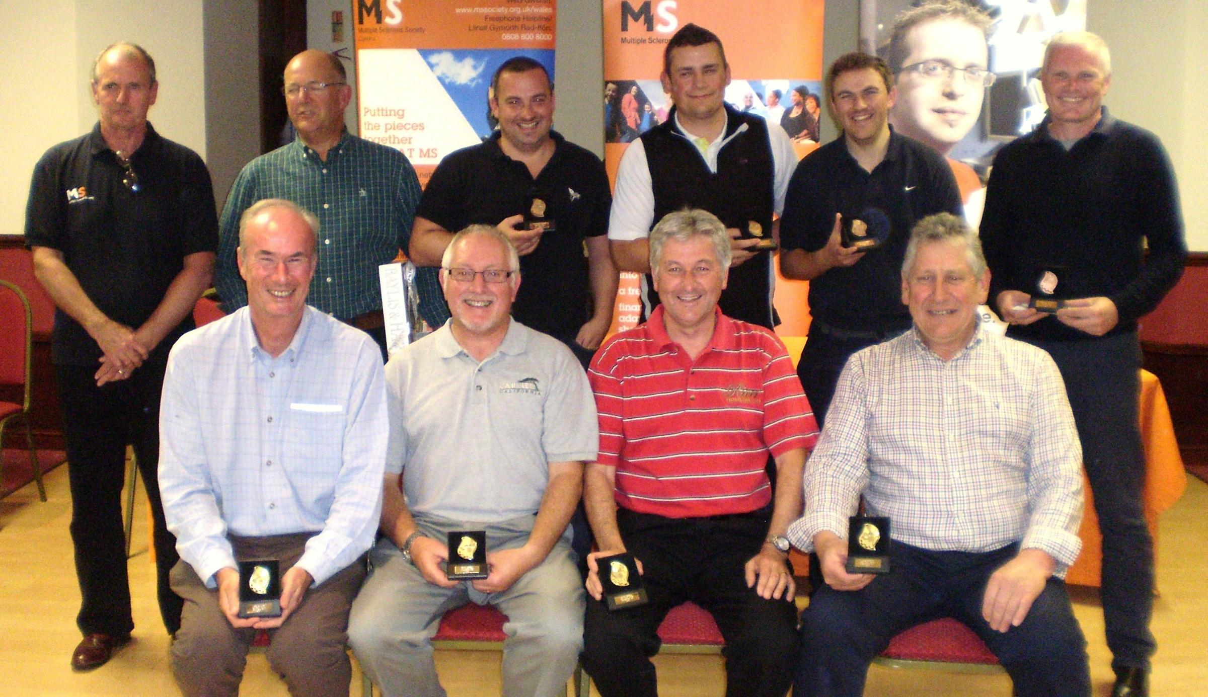 MAJOR CHAMPIONS: Winners from this year's MS Society Golf Day in Mountain Ash. Now in its 13th year, the event has raised more than £30,000 for the charity.