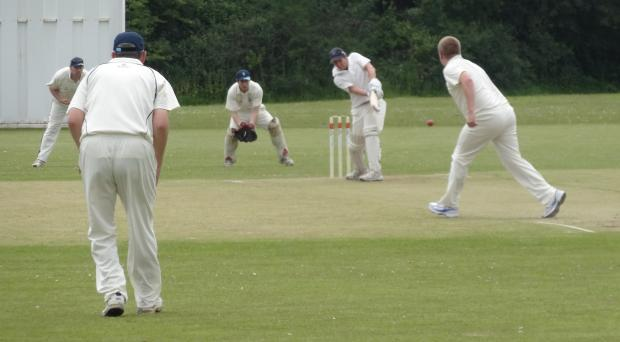 Penarth Times: HALF CENTURY: Dinas Powys 2nd XI opener Mike O'Donovan on his way to 59 against Newport Fugitives.